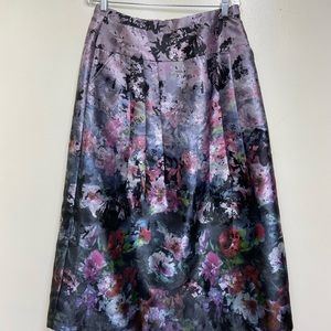 Soft Surroundings Long Cotton Lined Floral Skirt